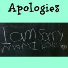Sincere Apologies