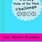 Family Verse of the Week Challenge:  Week 10