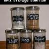 Seasoning Mix Storage