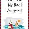 You Float My Boat Valentine Printable
