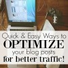 Quick and Easy Ways to Optimize Your Blog Posts for More Traffic