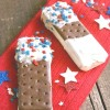 Patriotic Dipped Ice Cream Sandwich