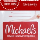 Blog Kick Off Michaels Gift Card Giveaway