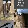 Easy DIY Boot Cuffs