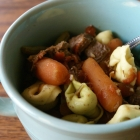 Beef Tortellini Soup in the Slow Cooker