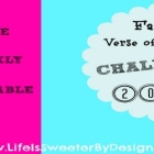 Family Verse of the Week Challenge for 2015
