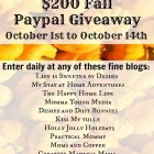 Fall Paypal Giveaway