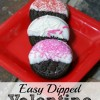 Easy Dipped Valentine Cookies