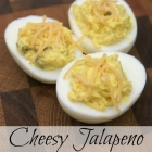 Cheesy Jalapeno Deviled Eggs