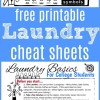 Laundry Cheat Sheet for College Students