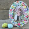 DIY Spring Button Picture Frame