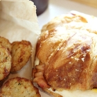 Must Try Dunkin' Donuts Pretzel Croissant Breakfast Sandwich
