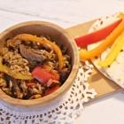 Beef Fajita and Rice Wraps