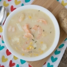 Weight Watchers Instant Pot Potato and Shrimp Soup