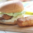 Crispy Fish Slider Sandwiches with Cayenne Ranch Sauce