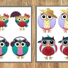 Owl Memory Game Printable