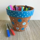 DIY Kids Painted Flower Pot