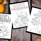 Free Thanksgiving Color Pages