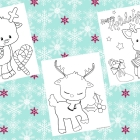 Free Printable Reindeer Color Pages