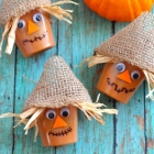 Easy Scarecrow Pudding Cups for Fall