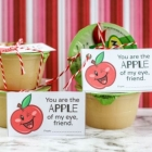 Printable Apple of My Eye Valentines for Applesauce