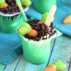 Garden Pudding Cups for Kids
