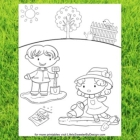 Gardening Coloring Page