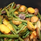 Air Fryer Potatoes and Green Beans