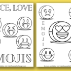 Free Emoji Coloring Pages