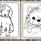 Puppy Coloring Pages (FREE!)