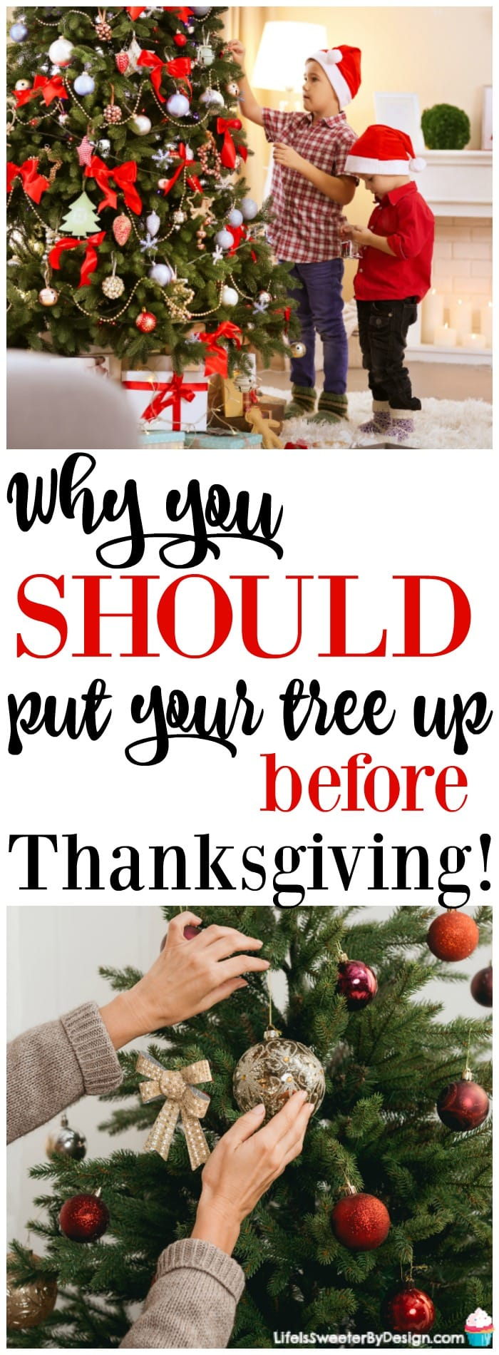 5 reasons i put up my christmas tree before thanksgiving life is