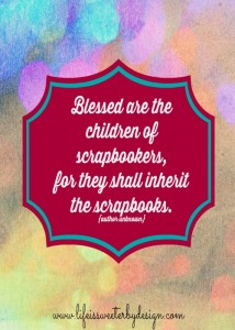 Scrapbooking Quote