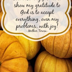 Gratitude Quote by Mother Teresa