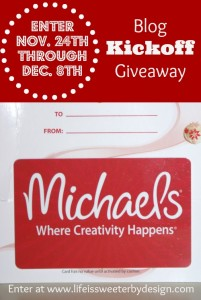 Blog Kick Off Michaels Gift Card Giveaway