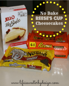 No Bake Reese's Cup Cheesecakes