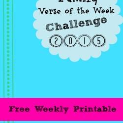 Bible Verse Weekly Challenge