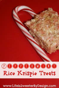 Peppermint Rice Krispie Treats….Day 2 of Six Sweets in Six Days