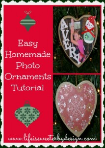 Homemade Photo Ornaments