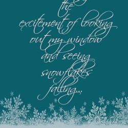 Snowflake Quote