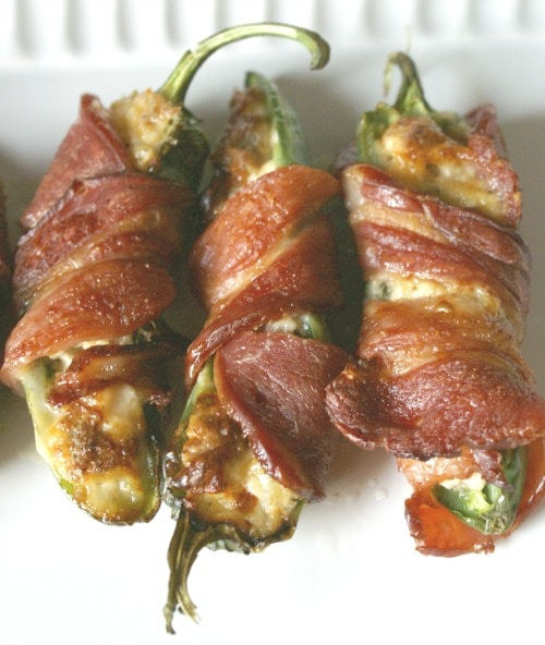 Bacon Wrapped Sausage Jalapeno Poppers - Life is Sweeter By Design