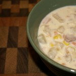 crock pot ham and potato chowder