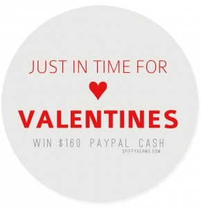 $160 Paypal Giveaway Just in Time for Valentine's Day