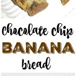 Banana bread is easy to make and this Chocolate Chip banana bread recipe is the best! Great way to use up ripe bananas and quick to make!