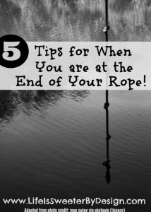The End of My Rope:  5 Tips That Keep Me From Falling