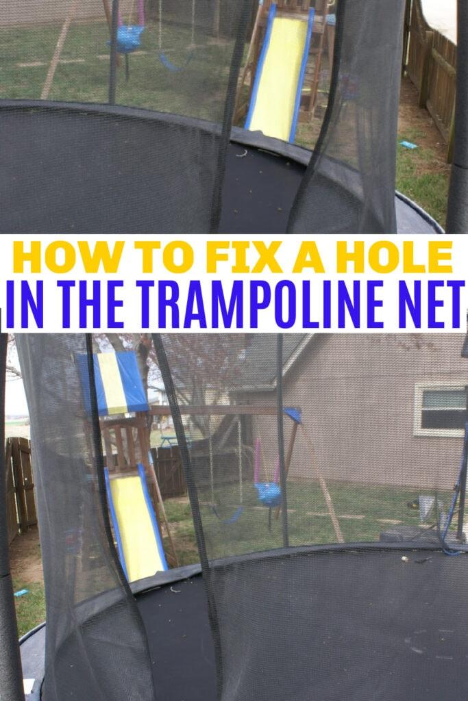 easy trampoline net repair