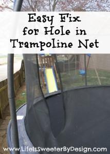 Trampoline Net Repair