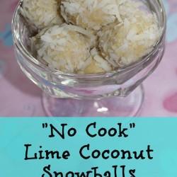 Lime Coconut Snowballs