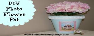DIY Photo Flower Pot