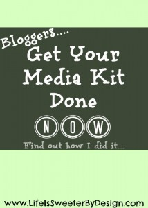 Get Your Media Kit Done Now