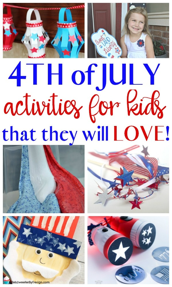 4th of July activities for kids that they will love. These easy 4th of July crafts for kids are fun to make and the red, white and blue will bring color to your home for the patriotic holiday.
